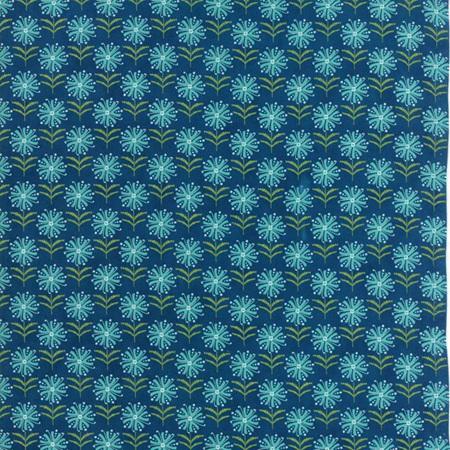 Spiral Floral - Prussian Blue - 17963-13