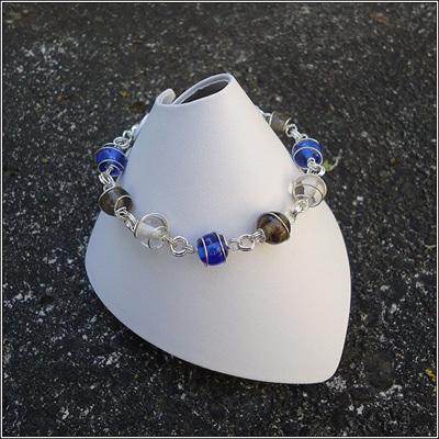 Spiral Wrapped Glass Bracelets