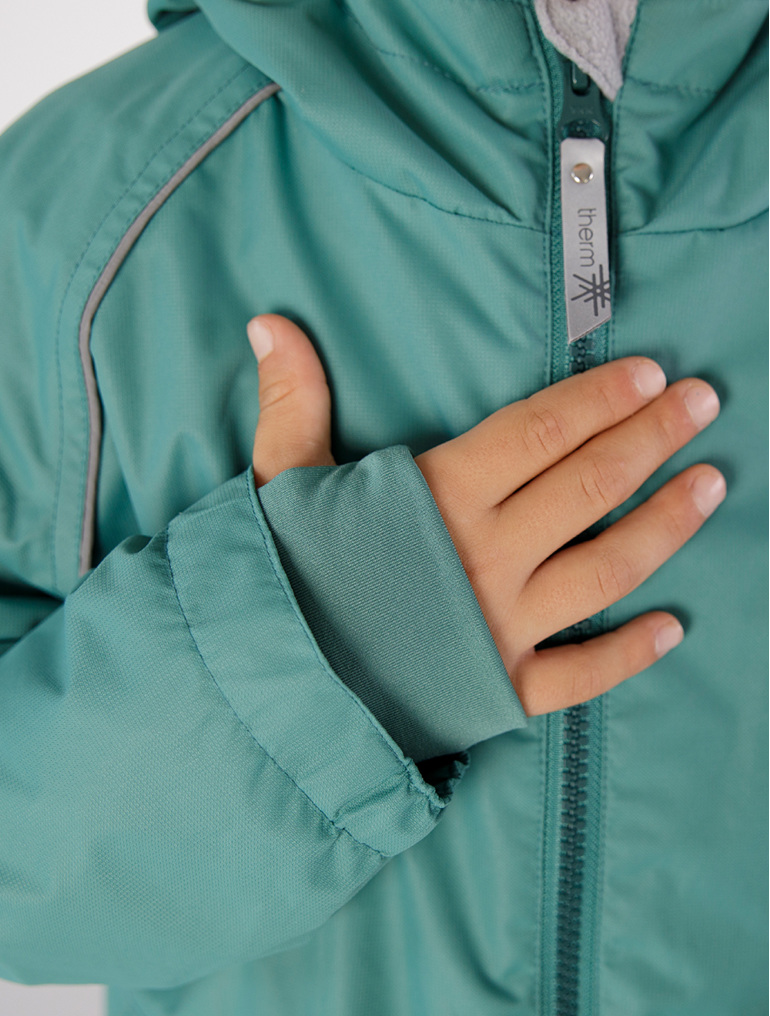 splashmagic therm jacket rain protection winter camping with kids