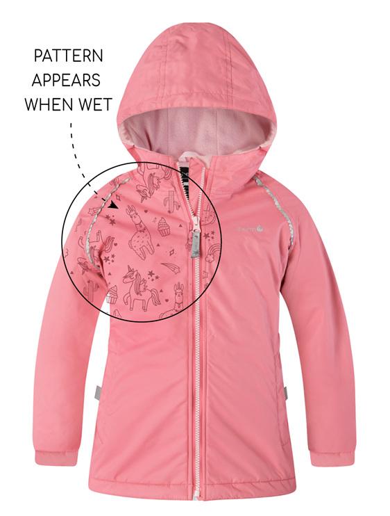 splashmagic therm jacket rain protection winter tramping with kids