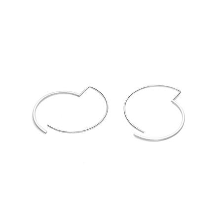 Split Circle Hoop Earrings