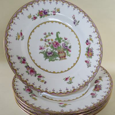 Tea plates from Harrods