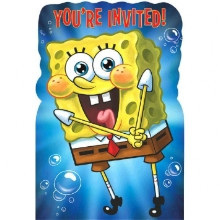 SpongeBob Birthday Invites x 8