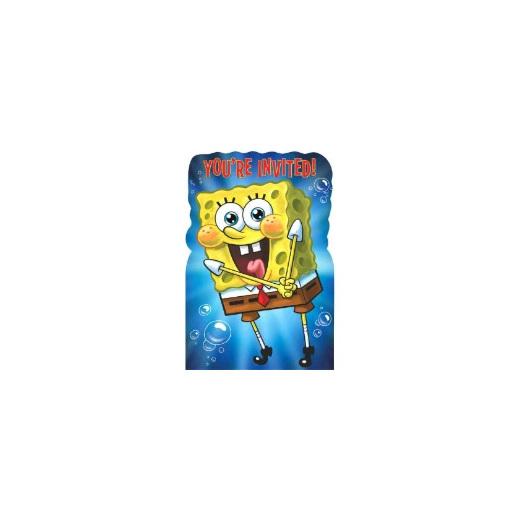 SpongeBob Birthday Invites X 8