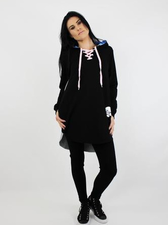 SPRING BUTTERFLY LONG SLEEVE OVERSIZED TOP - ADULTS