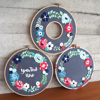springtime wreath embroidery kit