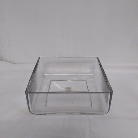 Square clear glass container G1724