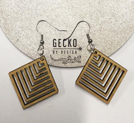 Square Pattern Earrings