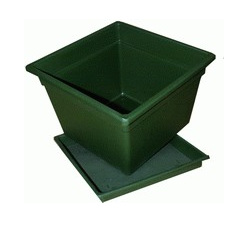 Square Saucer Only 40LT Green