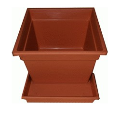 Square Saucer Only 40LT Terracotta