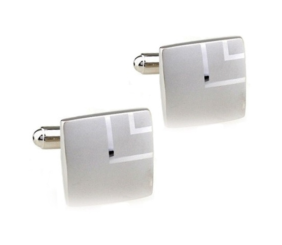 Square Stylish Silver Cufflinks