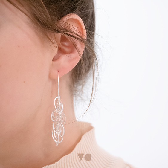 Squiggle Earrings Sterling Silver Milke Collection