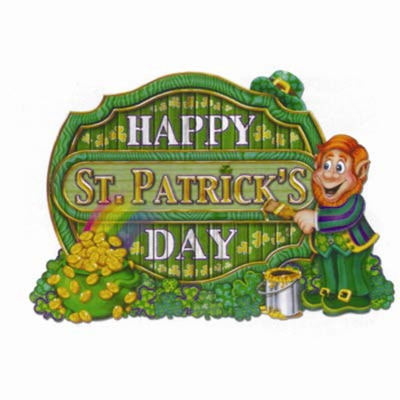 St. Patrick's Day cardboard cutout