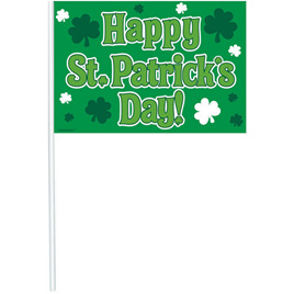 St. Patrick's 12 pack of flags 26cm