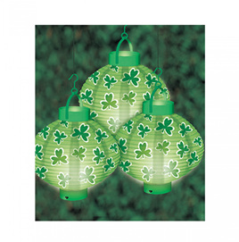 St Patrick's Day light lanterns pack of 3.