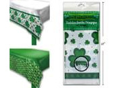 St Patrick's day  printed tablecover - ONLY WHITE WITH GREEN AVAILABLE