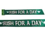 St Patricks day sash