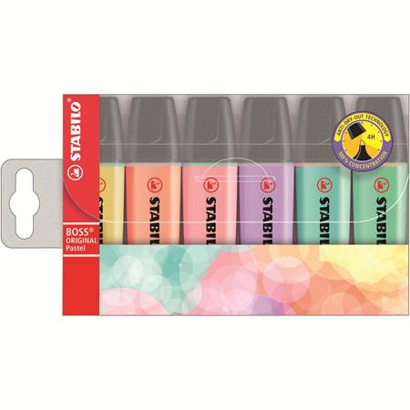 Stabilo BOSS Highlighter Pastels - 6 Pack