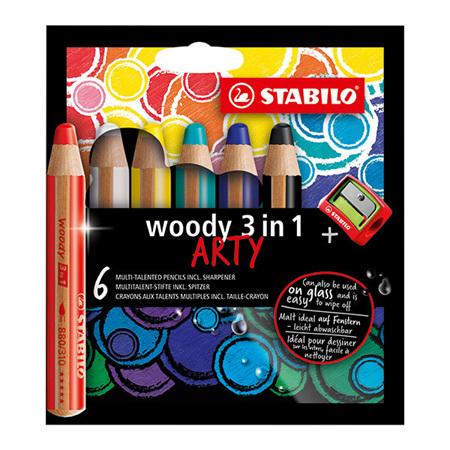 Stabilo Woody 3-in-1 Pencils Arty Packs
