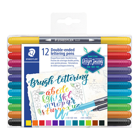Staedtler Double Ended Lettering Brush Pens