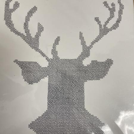 Stag Head Crosses - Prints
