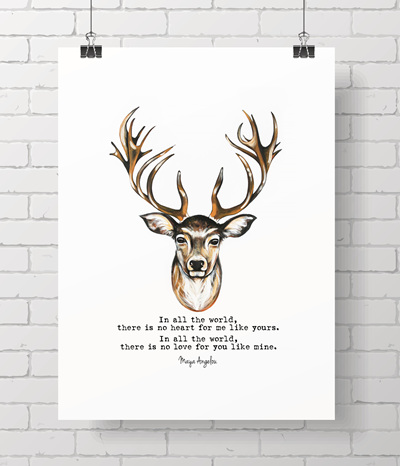 stag with quote