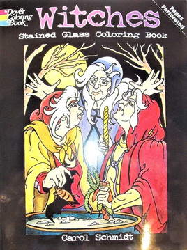 Stained Glass Colouring Book  - Witches