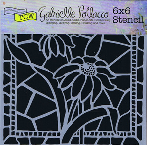 Stained Glass Daisies 6 x 6