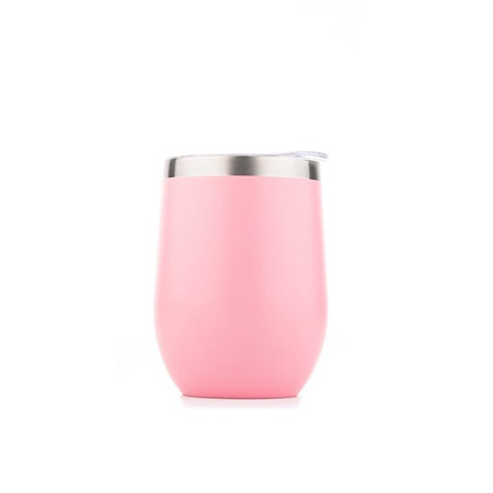 Stainless Short Cup 350ml - Pink