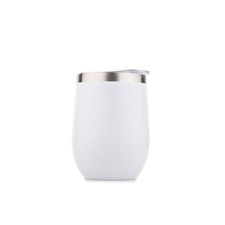 Stainless Short Cup 350ml - White