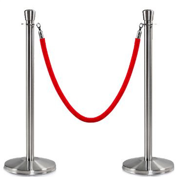 Stanchion Post 90cm (optional ropes)