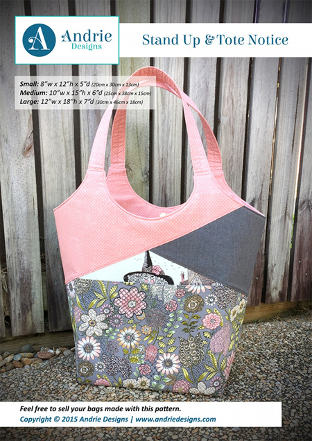 Stand Up & Tote Notice Bag Pattern