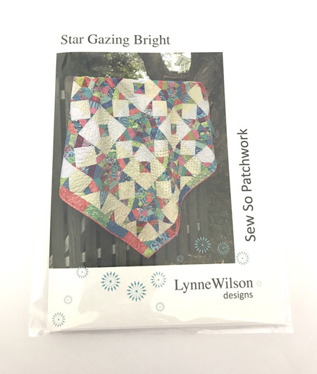 Star Gazing Bright Quilt Pattern and Template