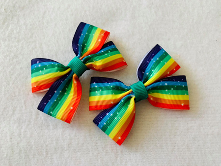 Star Rainbow Hair Bows