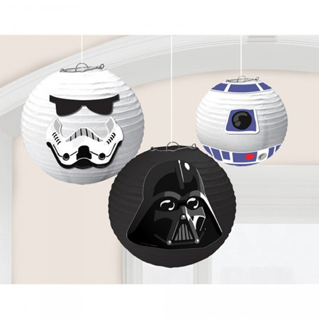 Star Wars galaxy lanterns x 3