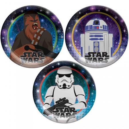 Star Wars galaxy plates x 8