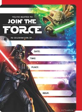 Star wars Invites