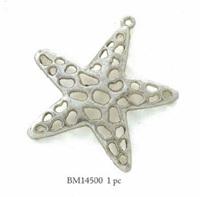 Starfish Antique Silver Pendant
