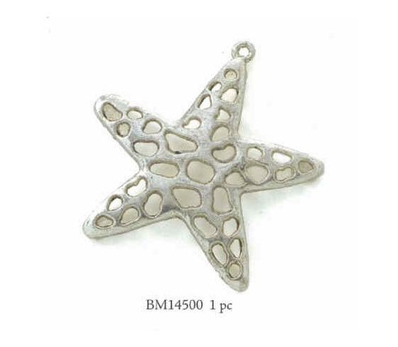 Starfish Antique Silver Pendant