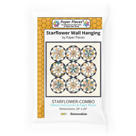 Starflower Wall Hanging Pattern and Paper Pieces by Paper Pieces