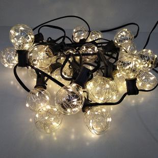 7.5m 25 Light Bulbs Starry Festoon Lights - Warm White