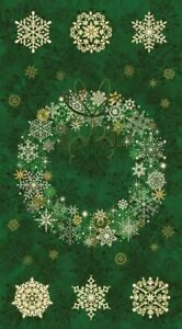 Starry Night Panel Wreath Green
