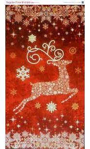 Starry Night Reindeer Red