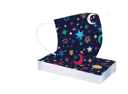 Stars & Moon Cartoon Disposible Masks 5pk