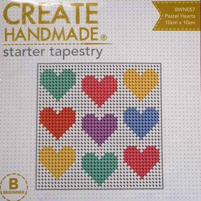 Starter Tapestry - Pastel Hearts