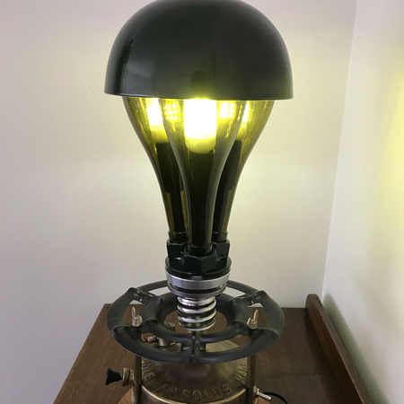 """Steampunk as found lamp """"Back to the Future"""""""