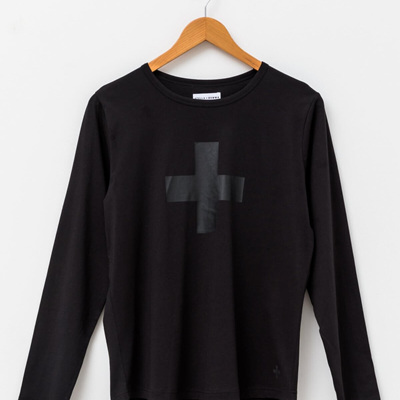 Stella and Gemma - Long Sleeve Tee - black