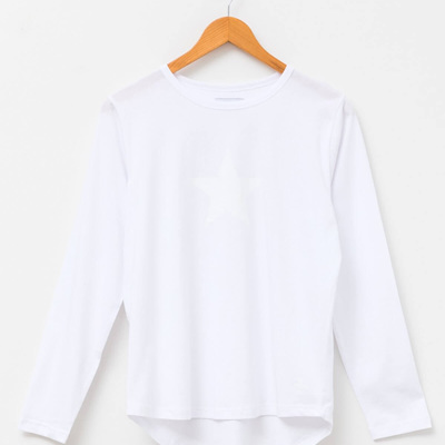Stella and Gemma - Long Sleeve Tee - White
