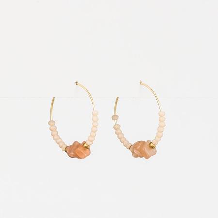 Stella + Gemma Earring Hoop Rose/Peach Boho