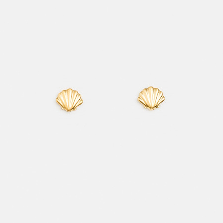 Stella + Gemma Earring Mini Scallop Gold